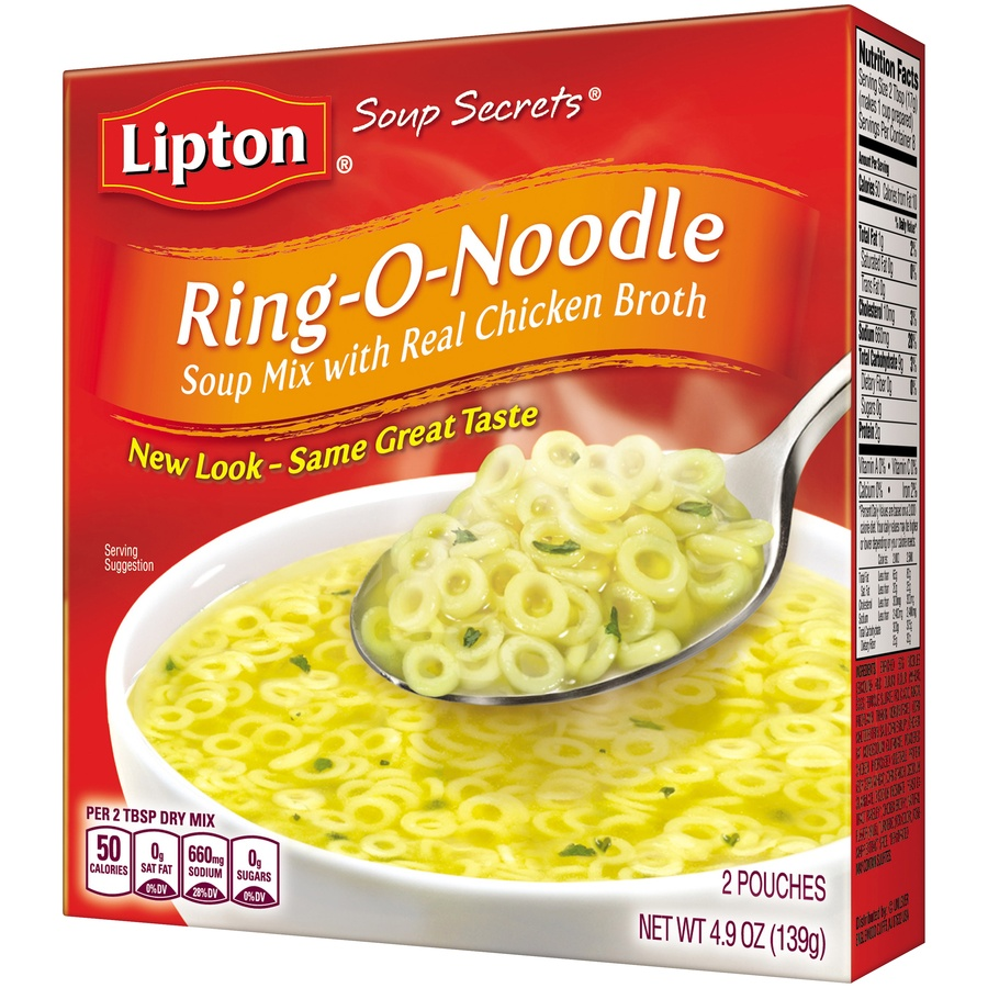 slide 4 of 6, Lipton Soup Secrets Ring onoodle with Real Chicken Broth Mix,