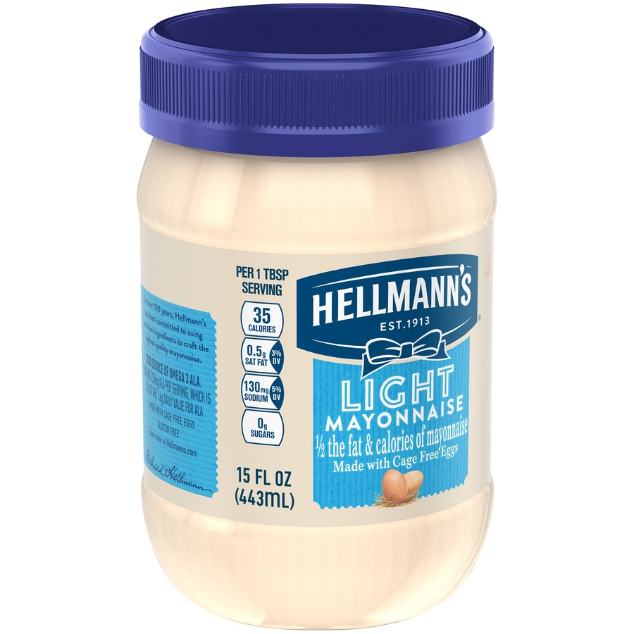 slide 2 of 5, Hellmann's Light Mayonnaise,