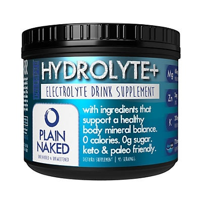slide 1 of 1, PaleoPro Hydrolyte+ Electrolyte Drink Supplement Plain Naked,