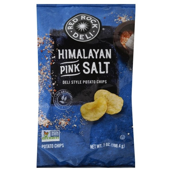 slide 1 of 4, Red Rock Deli Himalayan Pink Salt Deli Style Potato Chips,