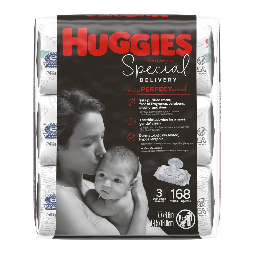 slide 2 of 4, Huggies Special Delivery Hypoallergenic Baby Wipes, Unscented,