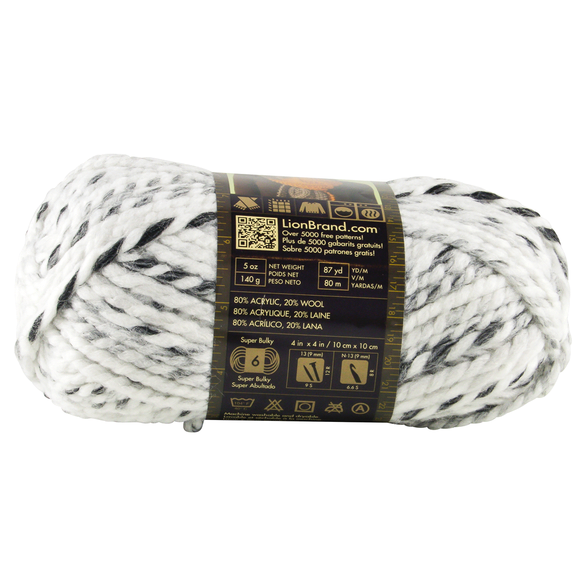 slide 2 of 4, Lion Brand Yarn Wool Ease Thick & Quick Marble,