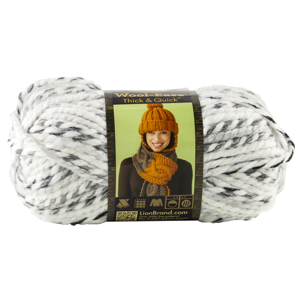 slide 1 of 4, Lion Brand Yarn Wool Ease Thick & Quick Marble,