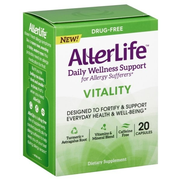 slide 1 of 1, AllerLife Daily Wellness Support Vitality Capsules,