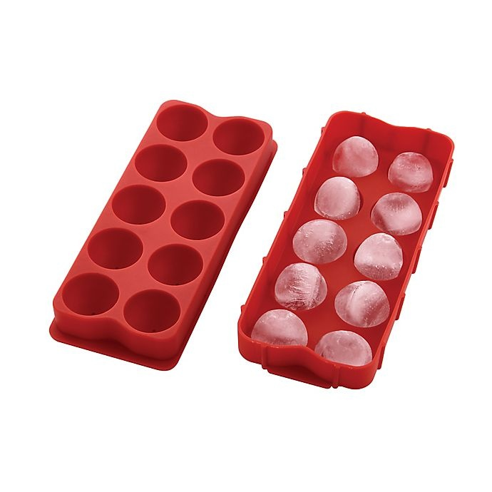 slide 2 of 5, Harold Import Co.10 Cube Cannonball Ice Tray Red,