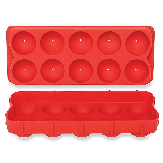 slide 1 of 5, Harold Import Co.10 Cube Cannonball Ice Tray Red,