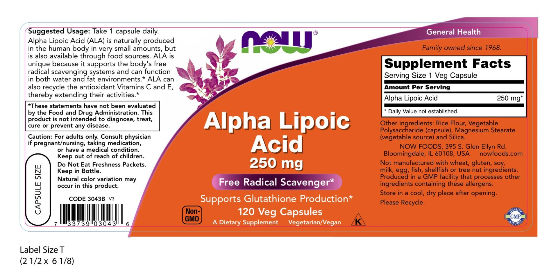 slide 2 of 2, Now Naturals Alpha Lipoic Acid,