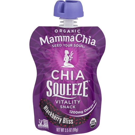 slide 2 of 18, Mamma Chia Chia Squeeze Vitality Snack Blackberry Bliss,