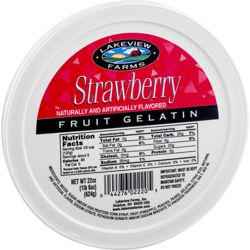 slide 2 of 9, Lakeview Farms Strawberry Fruit Gelatin,