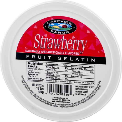 slide 3 of 9, Lakeview Farms Strawberry Fruit Gelatin,