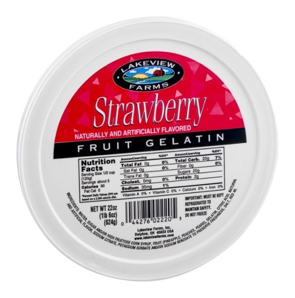 slide 1 of 9, Lakeview Farms Strawberry Fruit Gelatin,