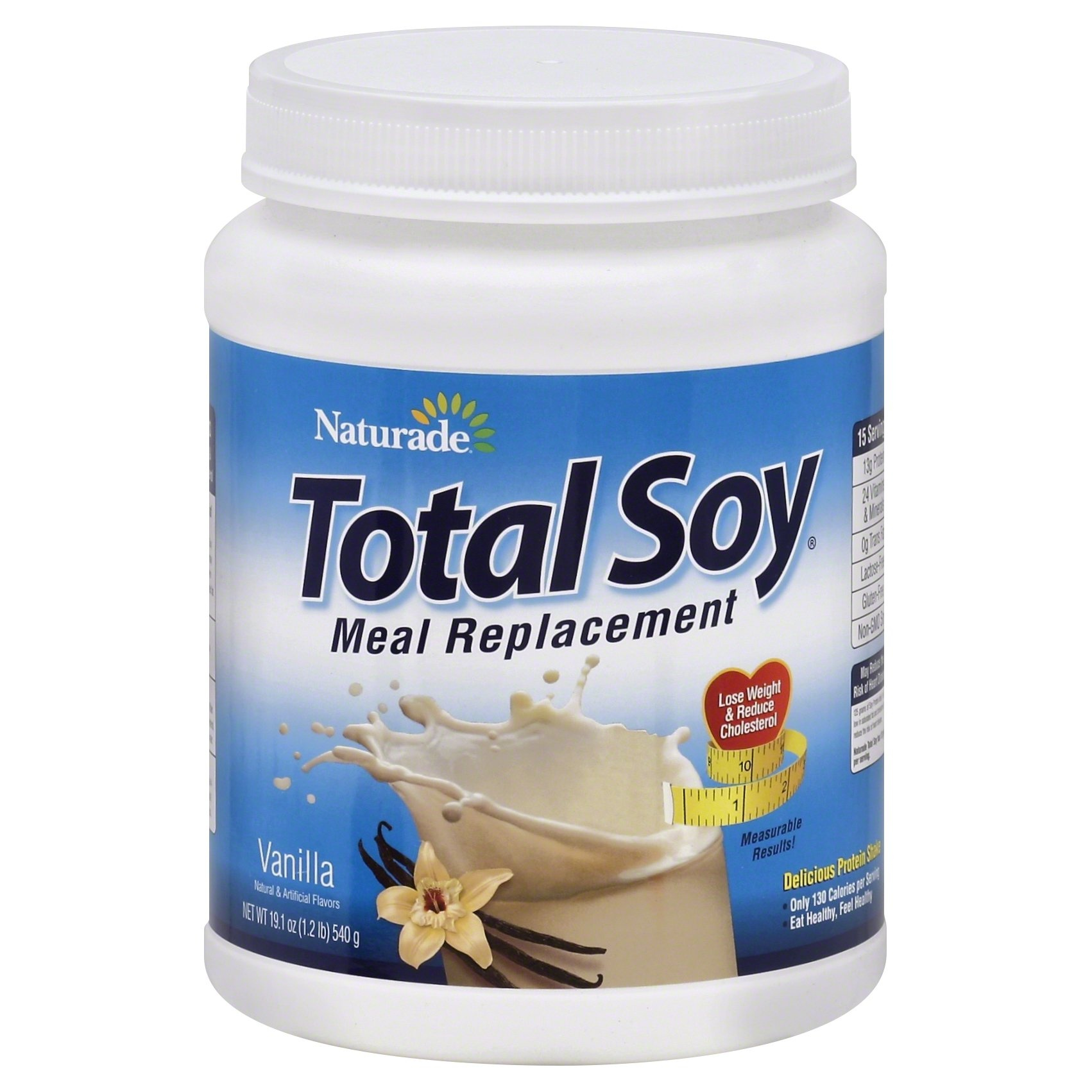 slide 1 of 3, Naturade Vanilla Total Soy Meal Replacement Powder,