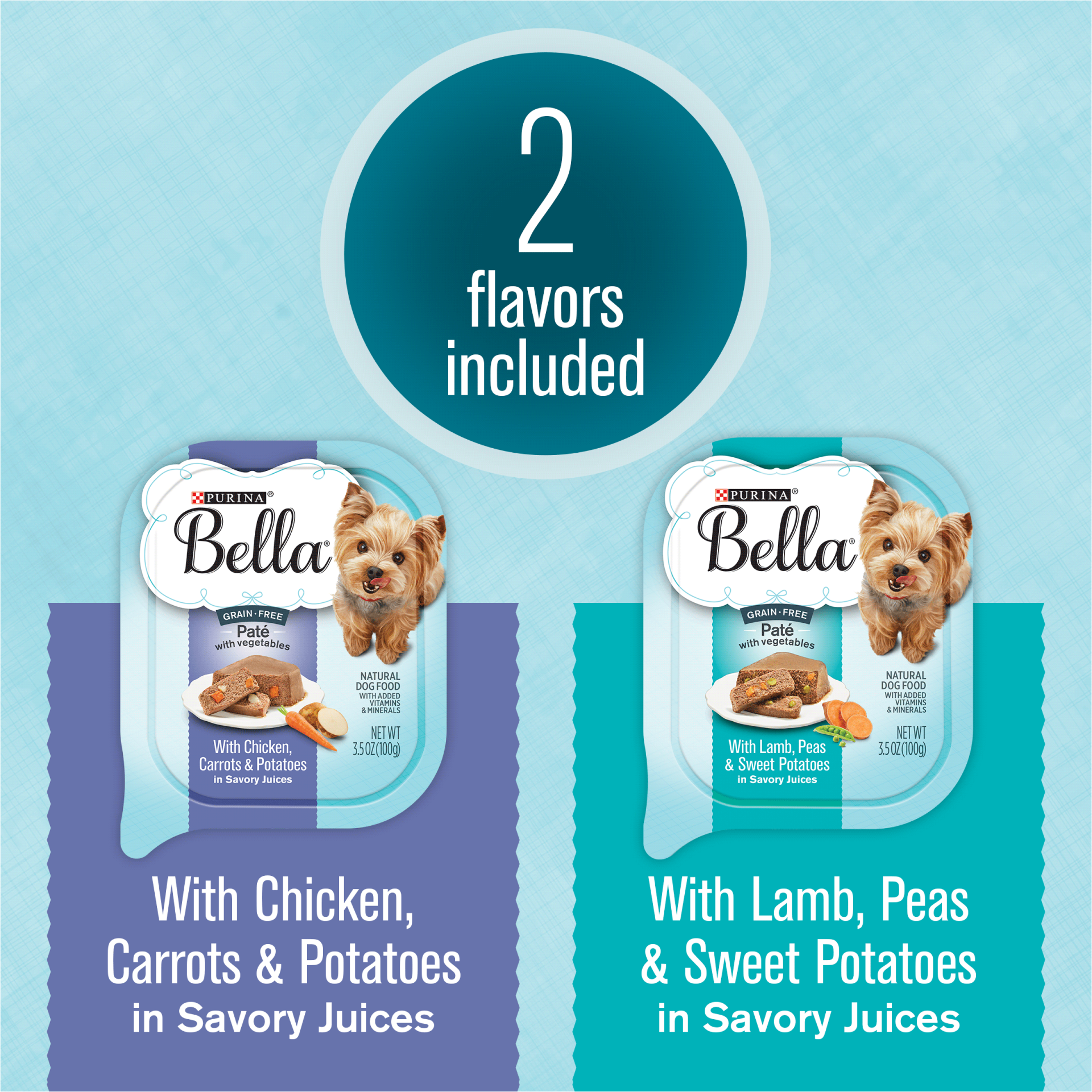 slide 3 of 12, Purina Bella Grain Free Pate With Chicken & Lamb Adult Wet Dog Food Variety Pack, (12) Trays,