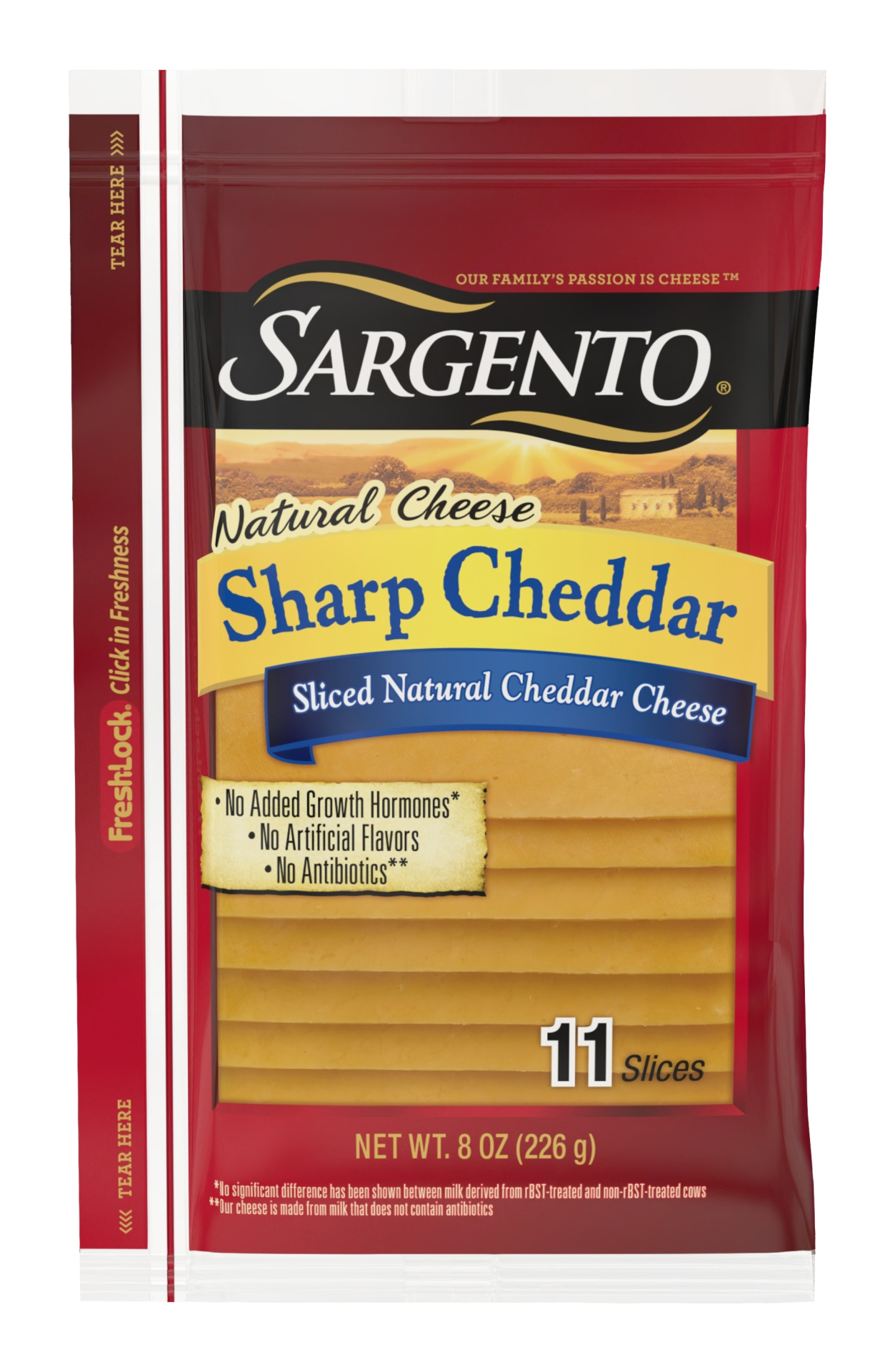 slide 1 of 7, Sargento Natural Sharp Cheddar Deli Style Sliced Cheese,