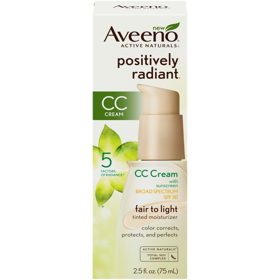 slide 1 of 6, Aveeno Radiant Daily Moist Light Tint,