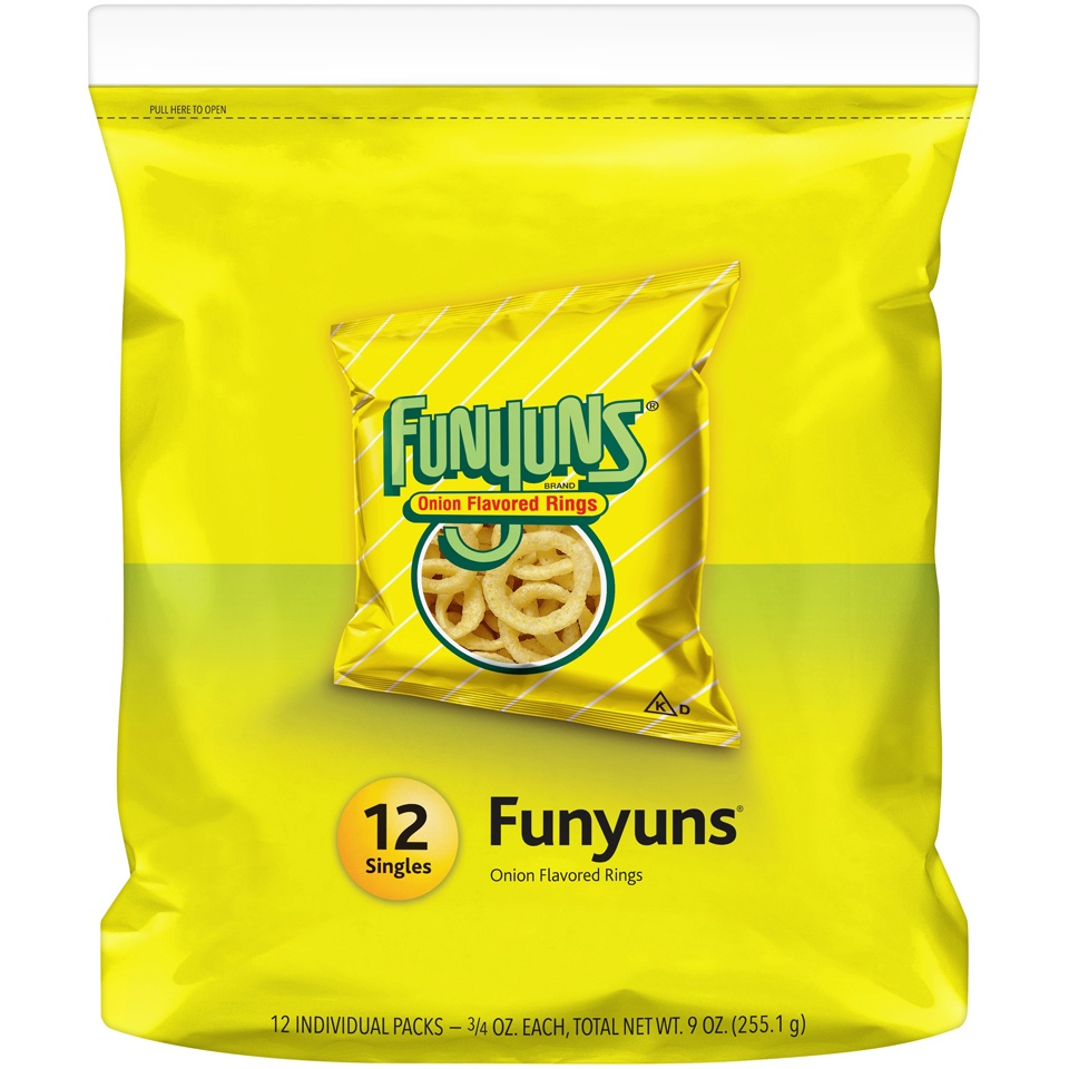 slide 2 of 4, Funyuns Onion Flavored Rings,