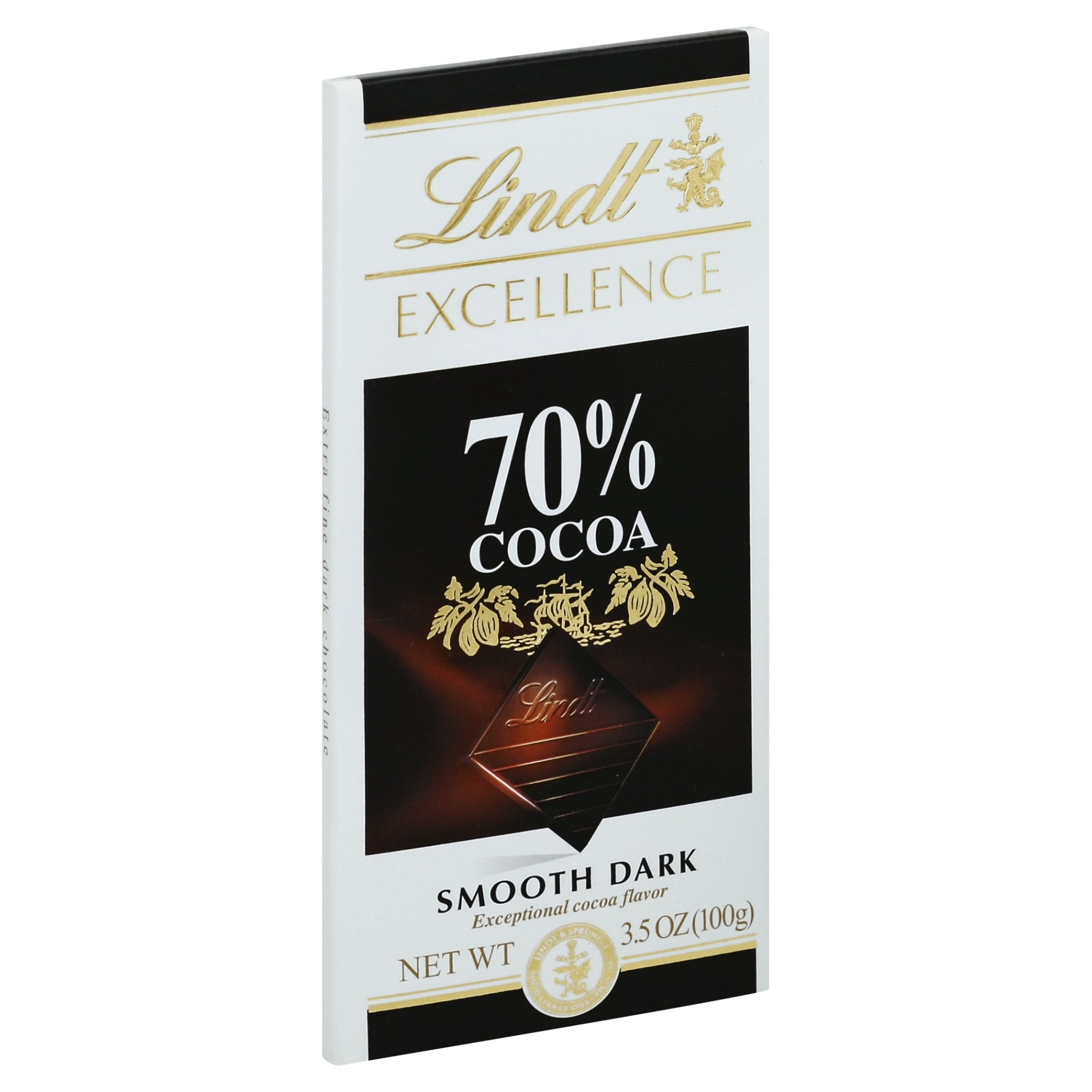 slide 1 of 2, Lindt Excellence 70% Cocoa Intense Dark Chocolate Bar,