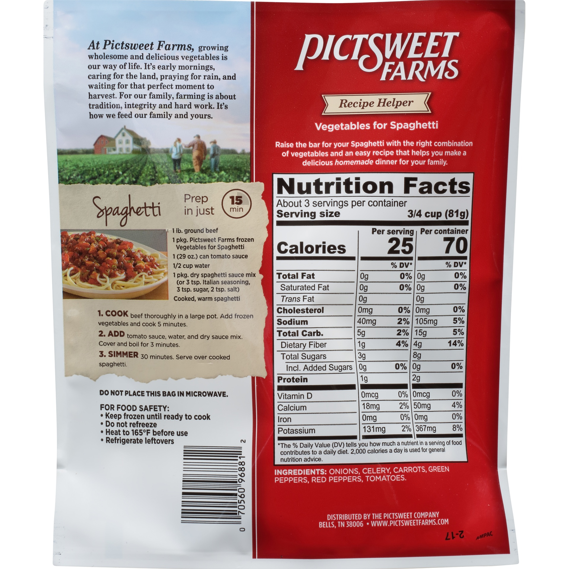 slide 4 of 6, PictSweet Farms Frozen Vegetables For Spaghetti,
