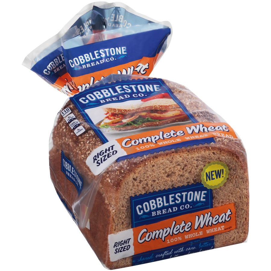 slide 2 of 8, Cobblestone Bread Co 100% Complete Wheat Bread,