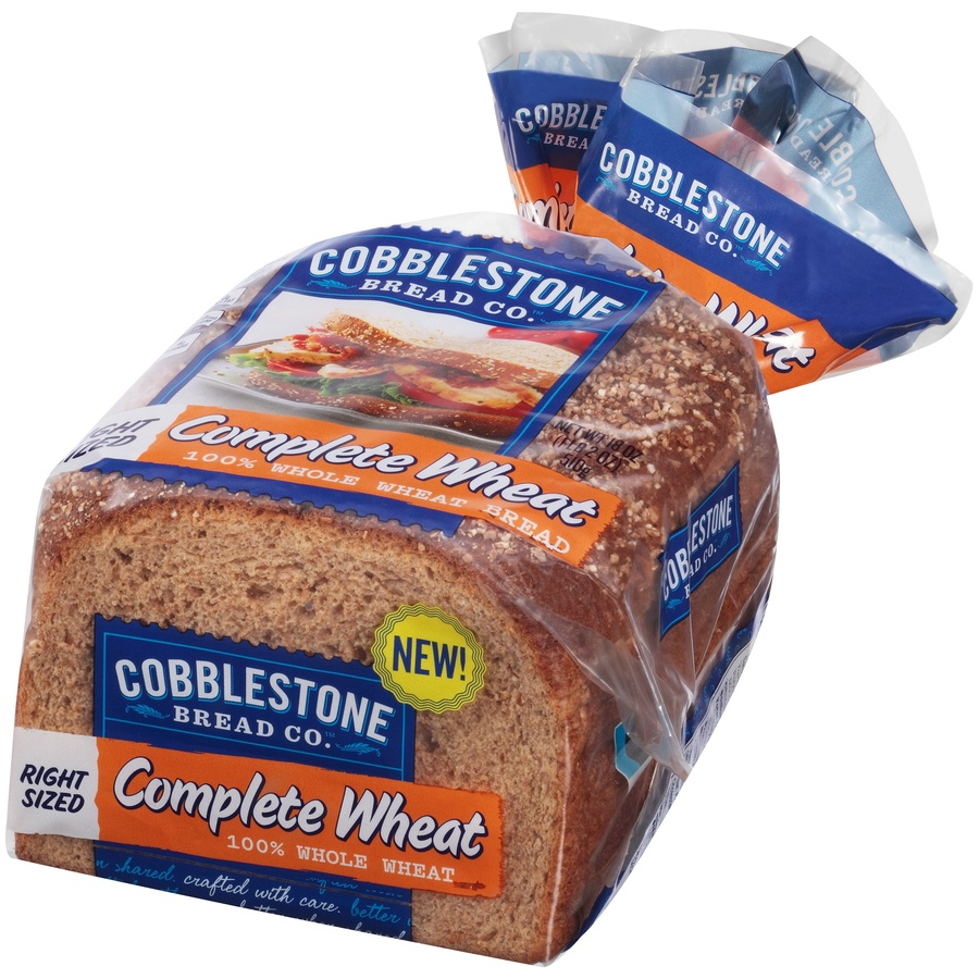 slide 3 of 8, Cobblestone Bread Co 100% Complete Wheat Bread,