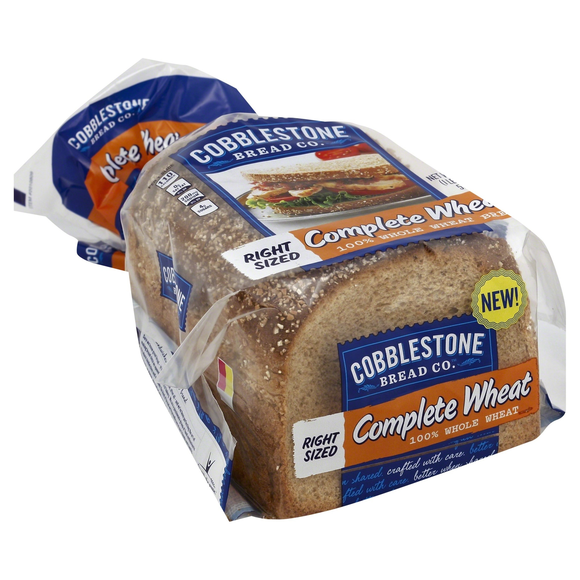 slide 1 of 8, Cobblestone Bread Co 100% Complete Wheat Bread,