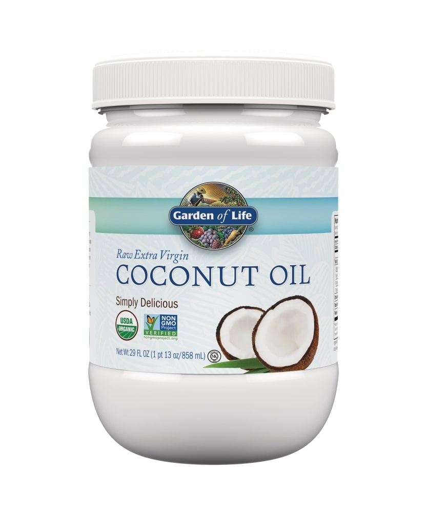 slide 1 of 2, Garden of Life Raw Organic Extra Virgin Coconut Oil,