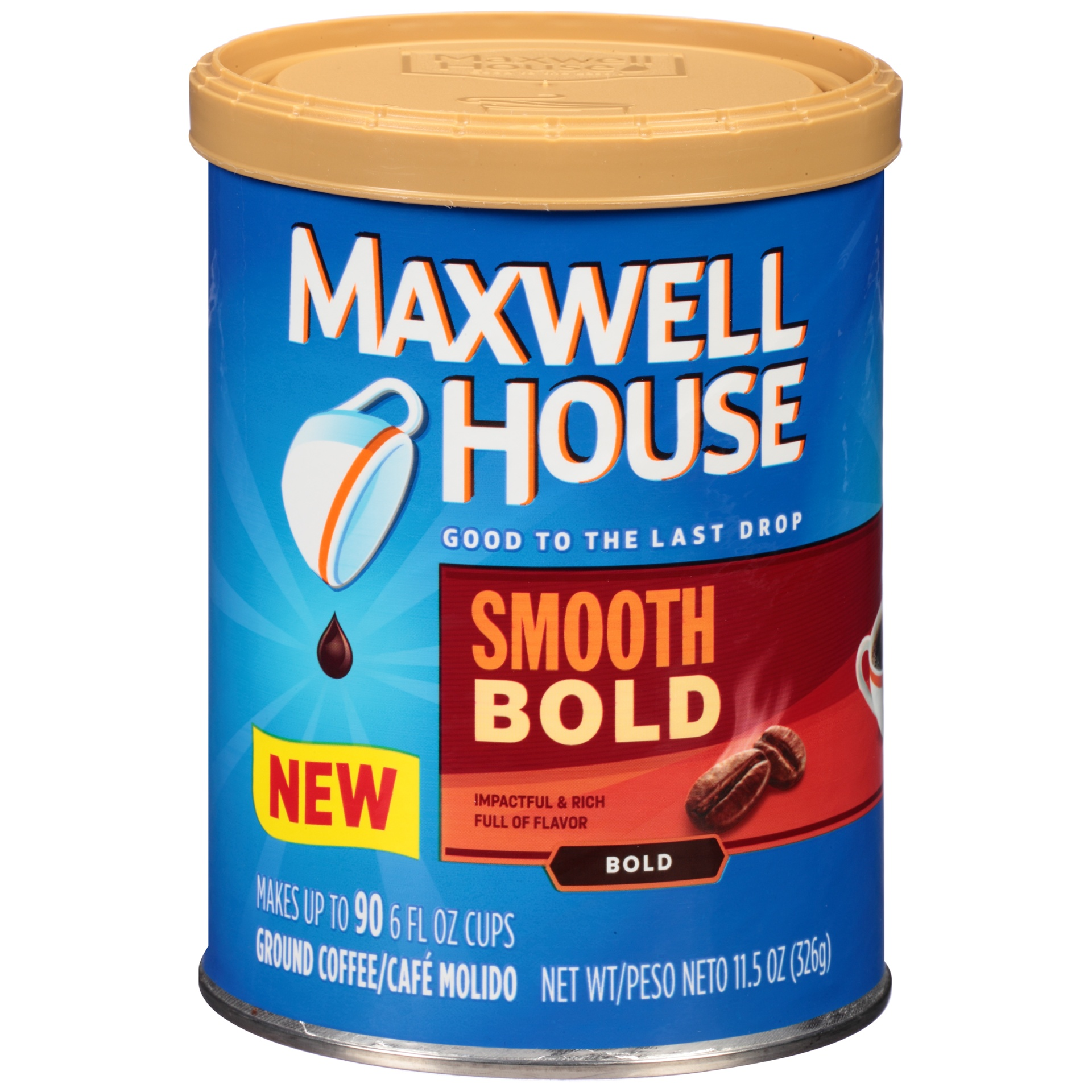 slide 1 of 3, Maxwell House Smooth Bold Coffee 11.5 oz Canister,