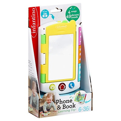slide 1 of 1, Infantino Phone & Book Learning Toy,