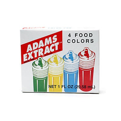 slide 1 of 1, Adams Extract Food Colors,