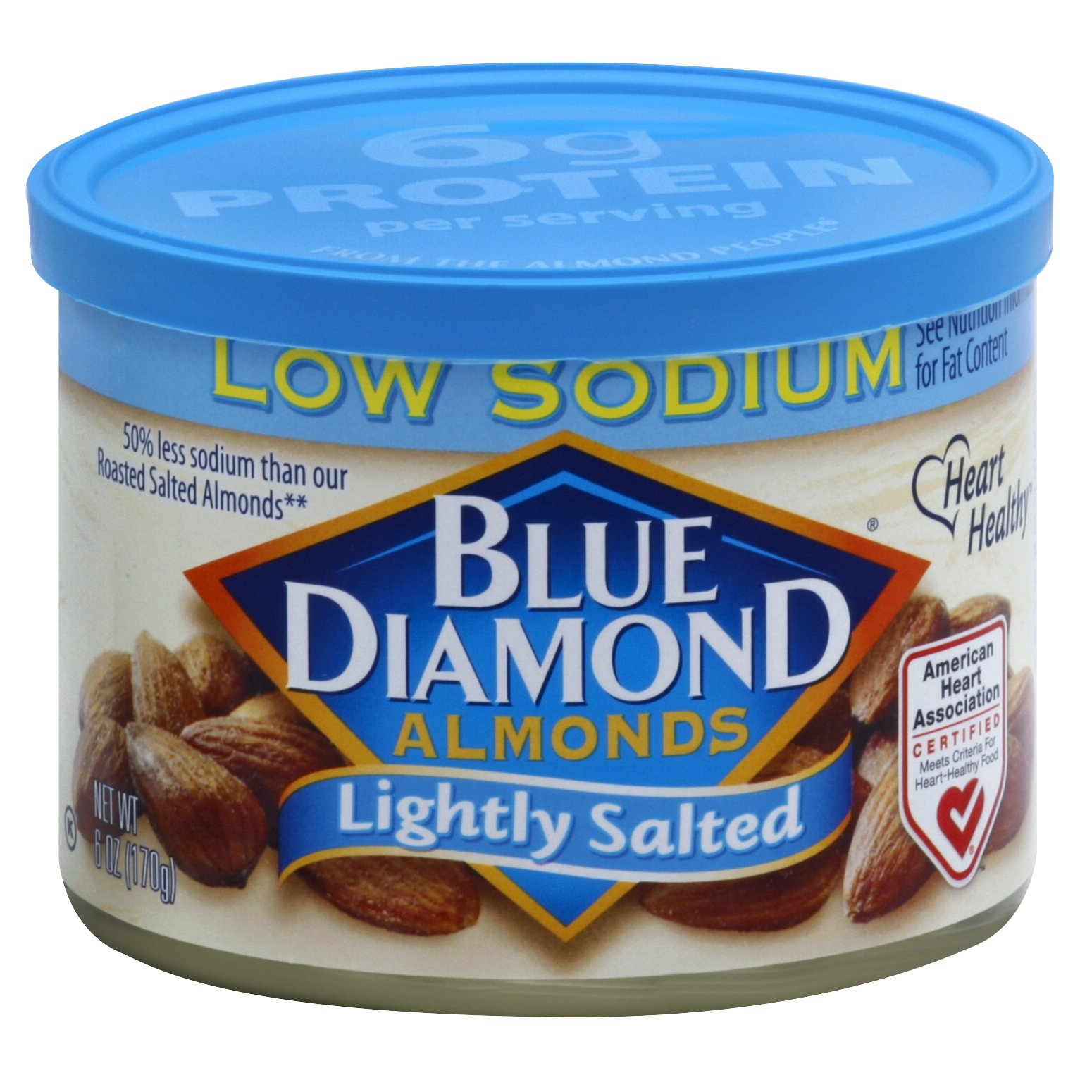 slide 1 of 3, Blue Diamond Almonds Lightly Salted,