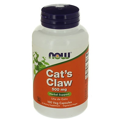 slide 1 of 2, NOW Cats Claw 500 mg Capsules,