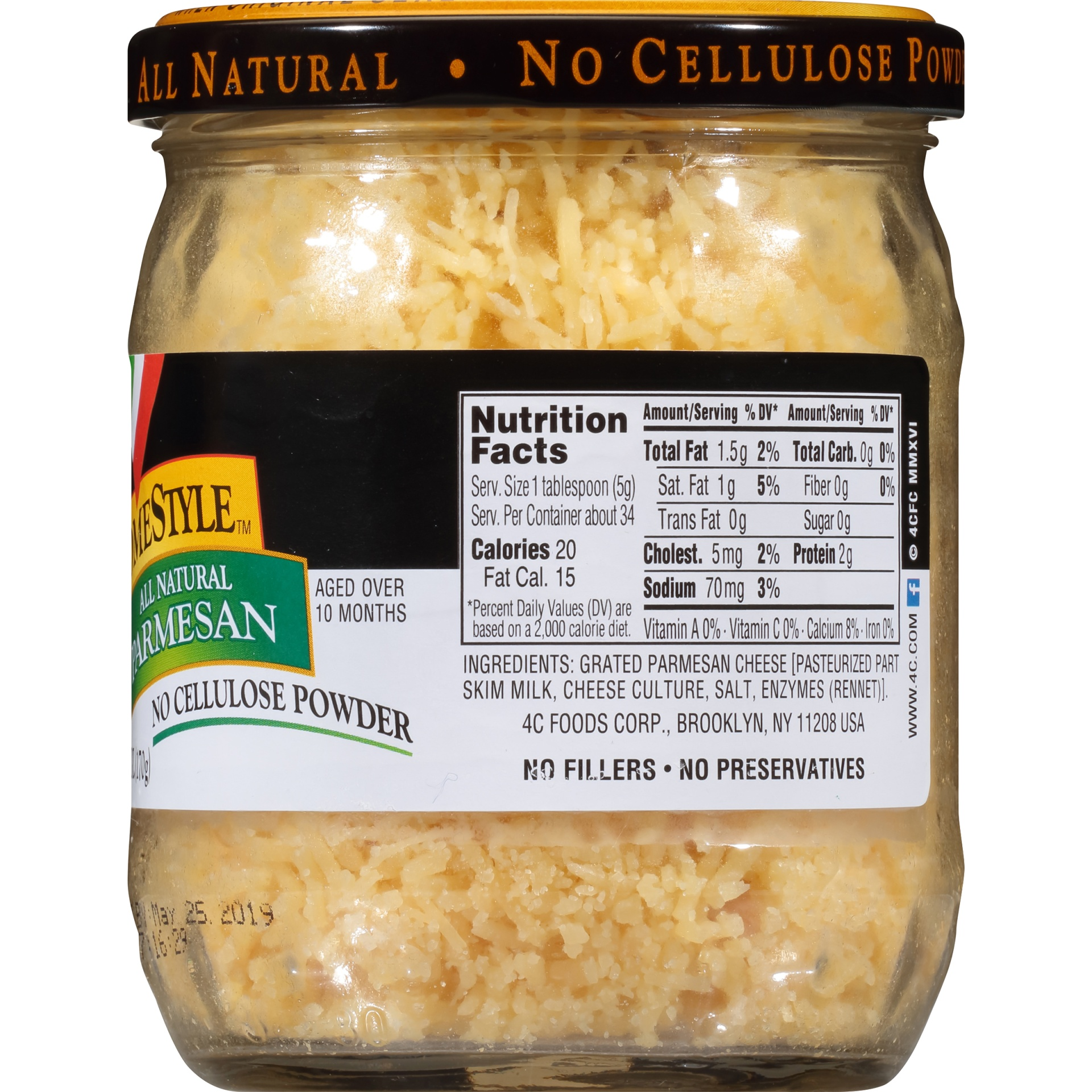 slide 3 of 6, 4C HomeStyle All Natural Parmesan Grated Cheese,