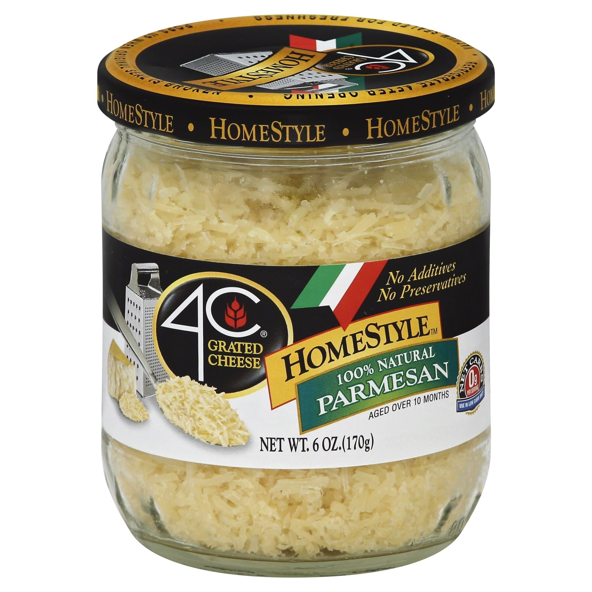 slide 1 of 6, 4C HomeStyle All Natural Parmesan Grated Cheese,