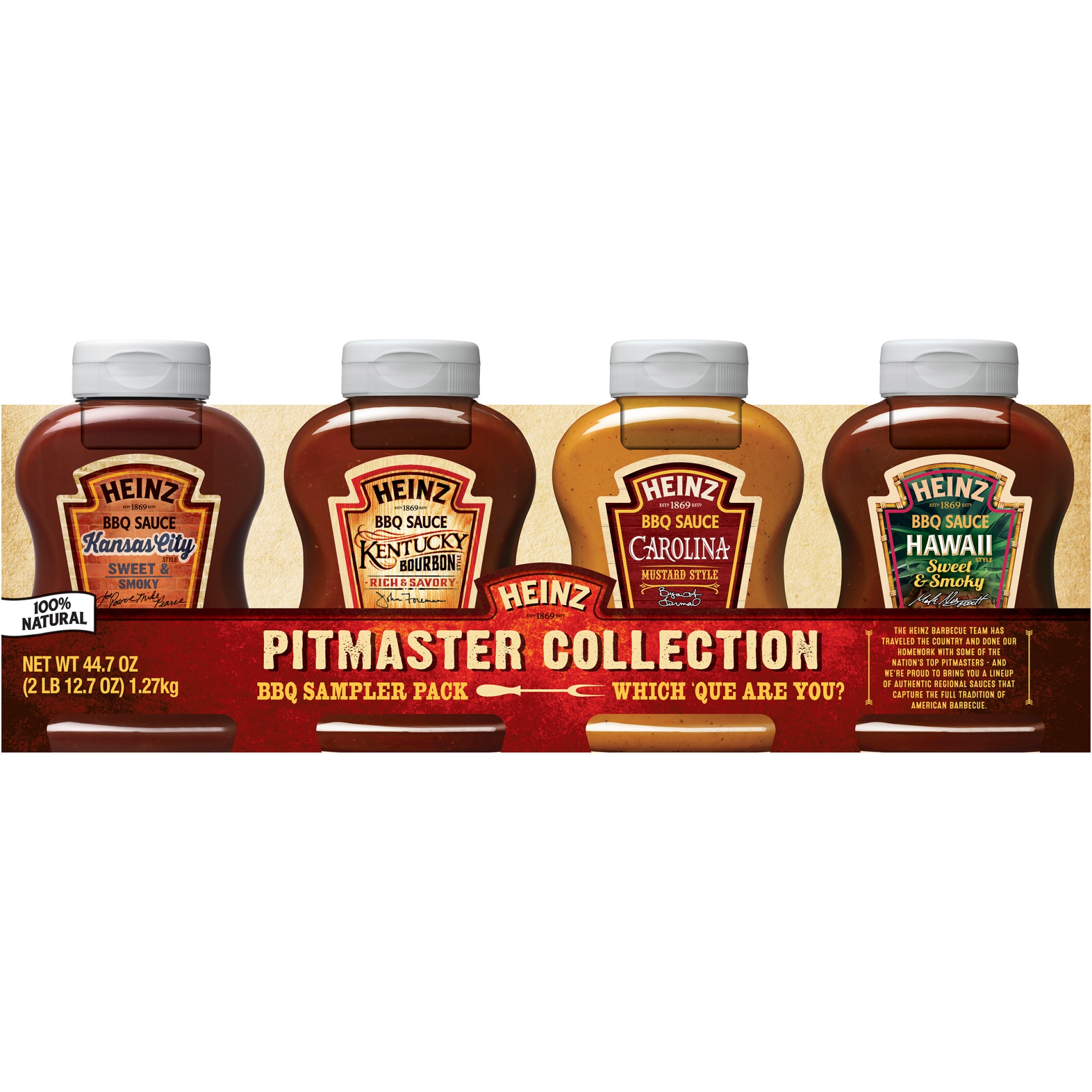 slide 1 of 2, Heinz Pitmaster Collection BBQ Sauce Sampler Pack,