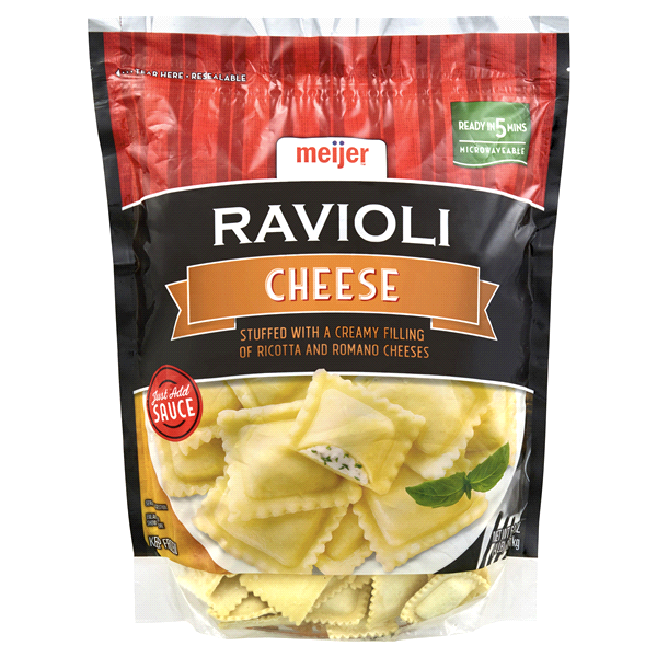 slide 1 of 2, Meijer Cheese Ravioli,