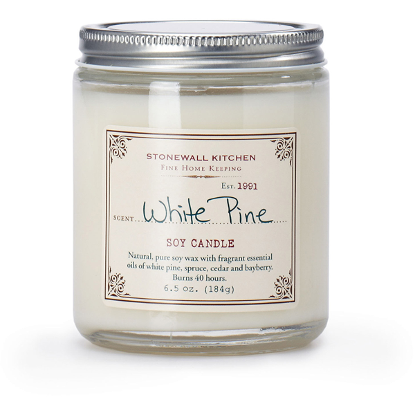 slide 1 of 1, Stonewall Kitchen White Pine Soy Candle,