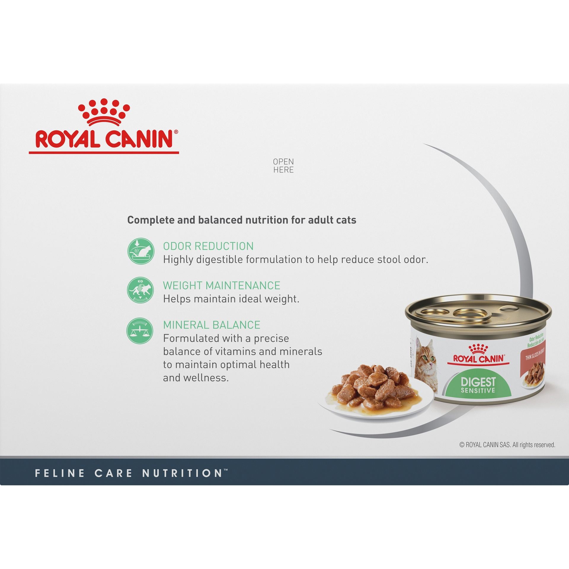 slide 6 of 9, Royal Canin Feline Care Nutrition Digest Sensitive Thin Slices In Gravy Canned Wet Cat Food,