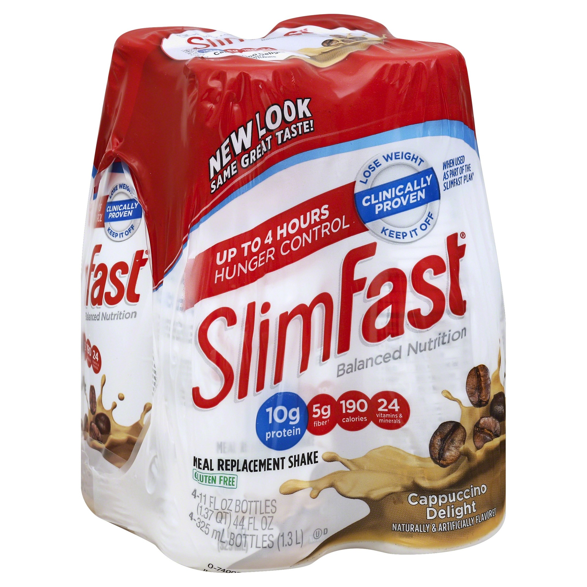 slide 1 of 6, SilmFast Original Cappuccino Delight Meal Replacement Shakes,