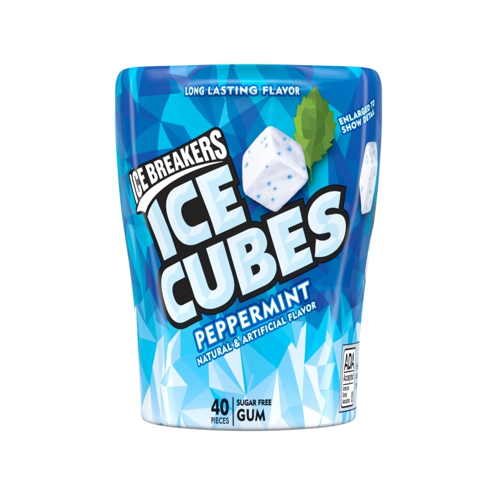 slide 1 of 4, Ice Breakers Ice Cubes Peppermint Sugar-Free Gum,