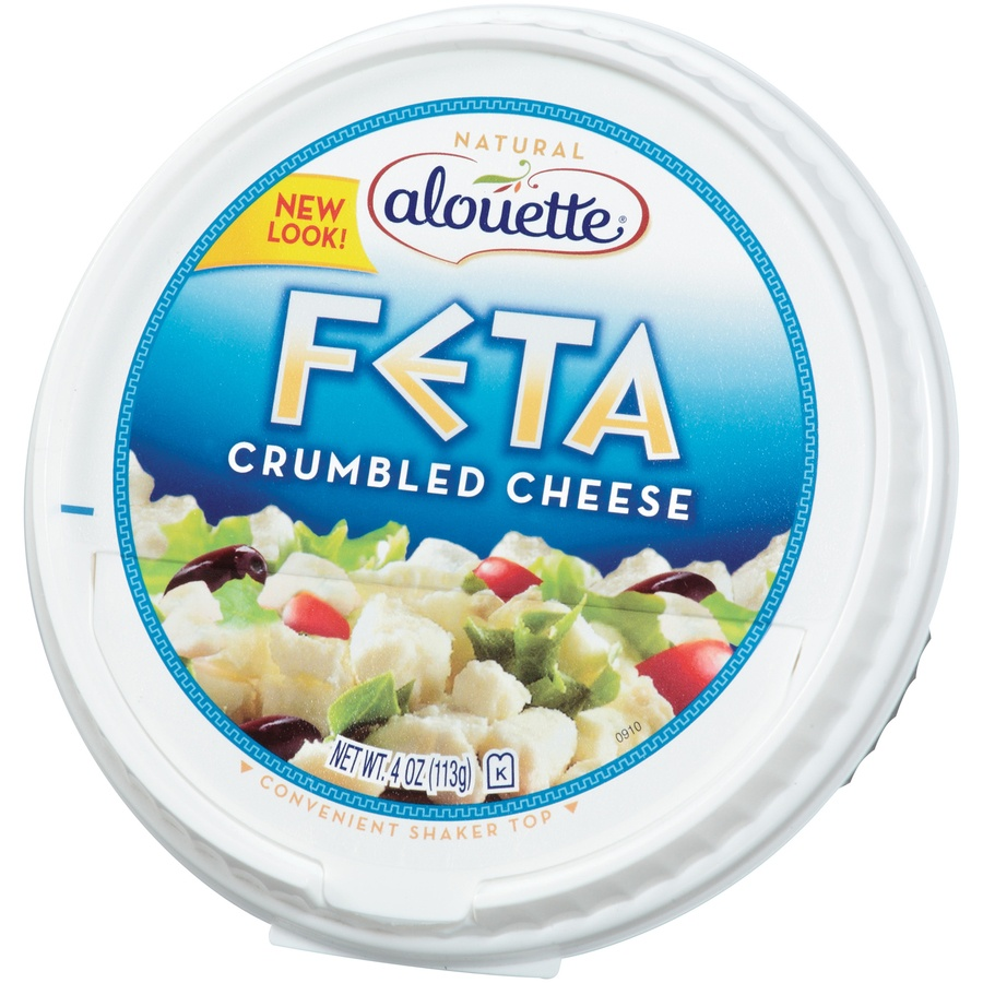 slide 3 of 3, Alouette Feta Crumbled Cheese,