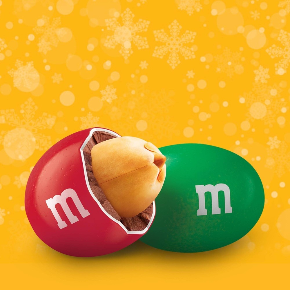 slide 5 of 6, M&M's Holiday Peanut Chocolate Candy Bag,