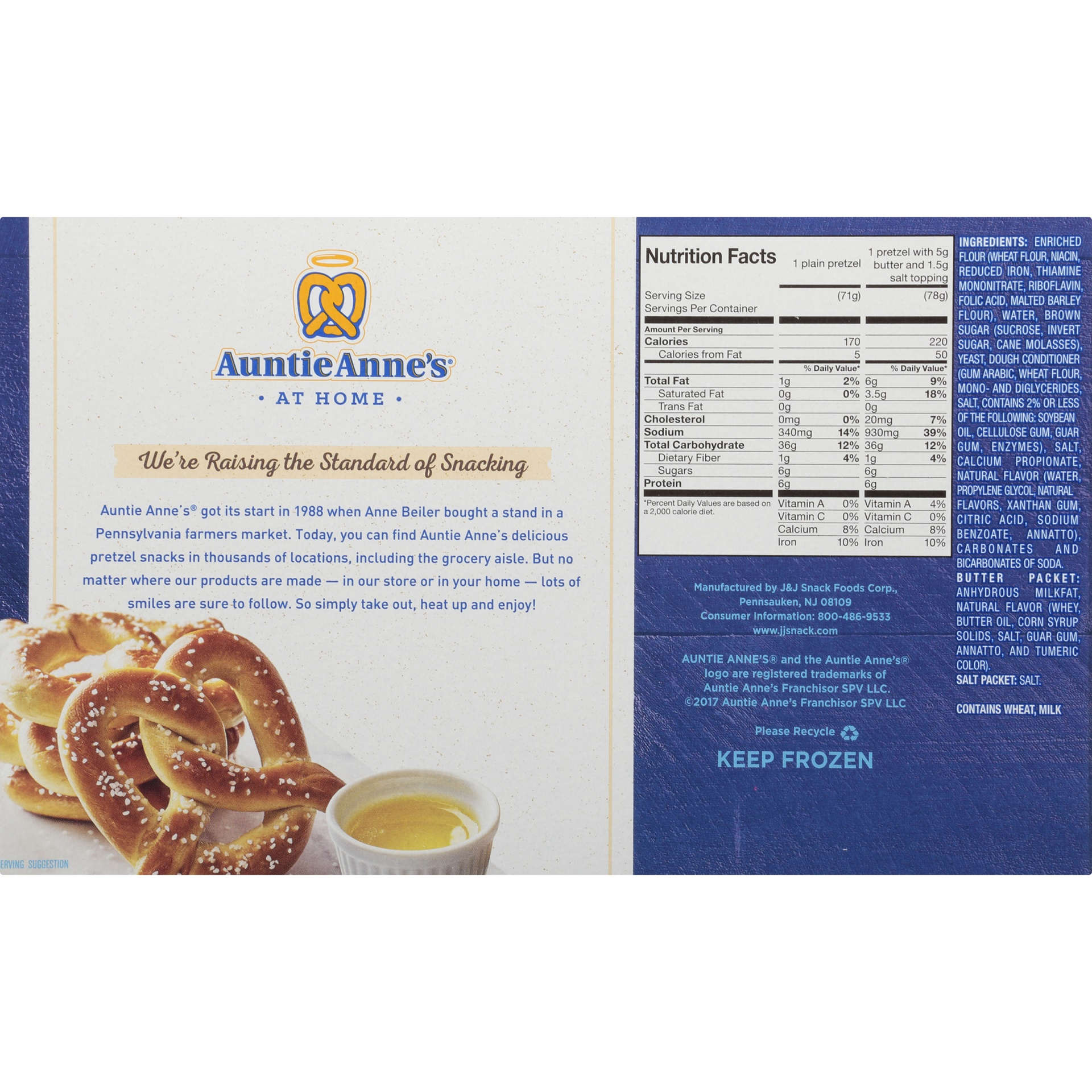 slide 6 of 8, Auntie Anne's Classic Soft Pretzels,