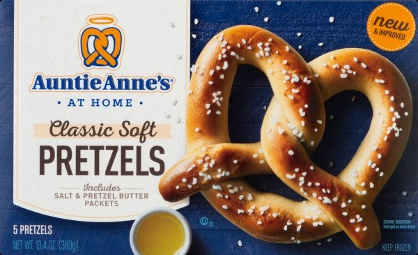 slide 1 of 8, Auntie Anne's Classic Soft Pretzels,