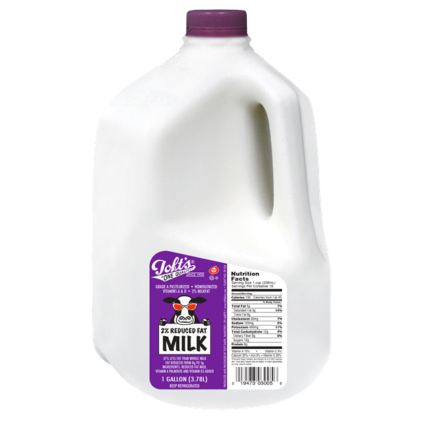 slide 1 of 1, Toft 2% Reduced Fat Milk, Gallon,