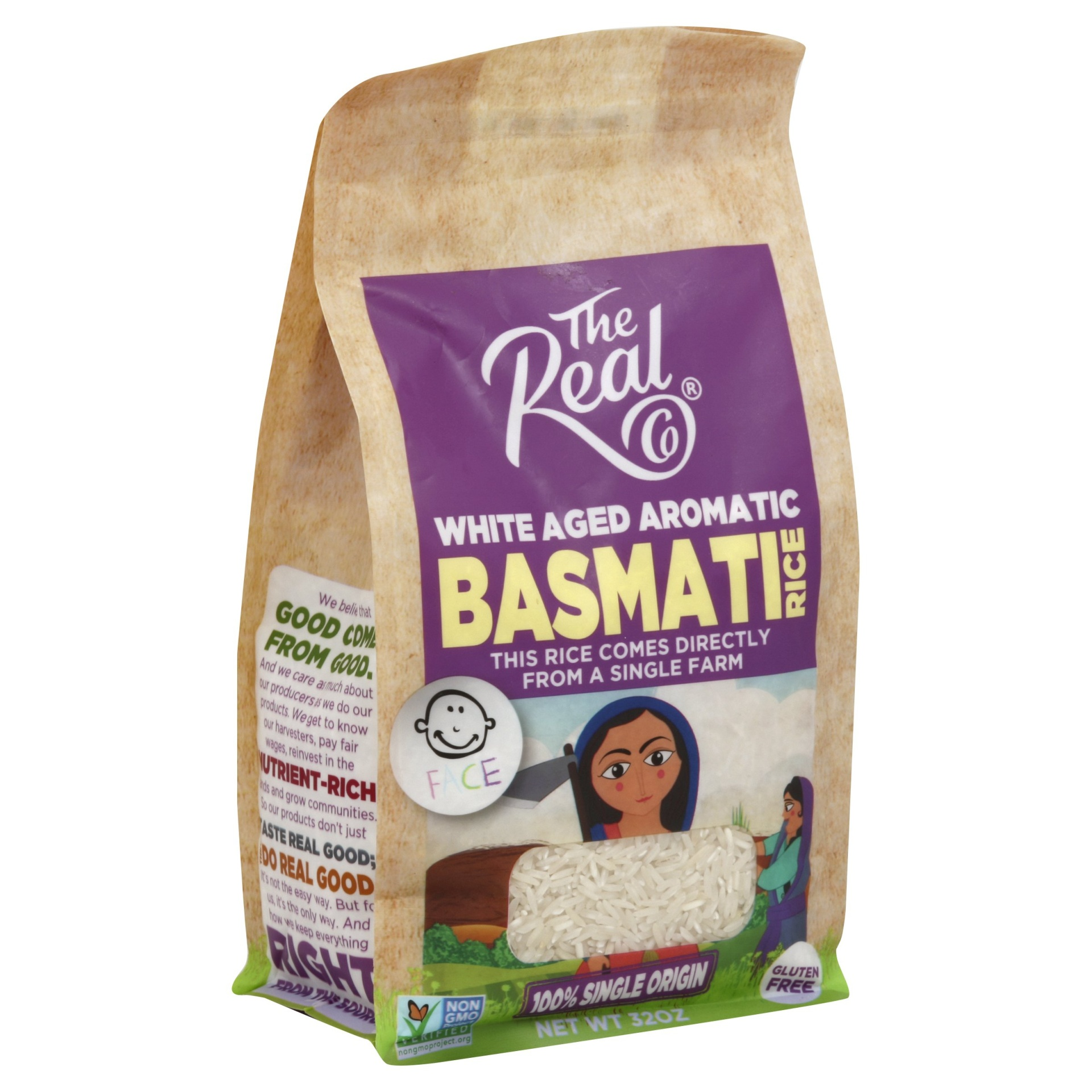 slide 1 of 1, The Real Co White Basmati Rice,
