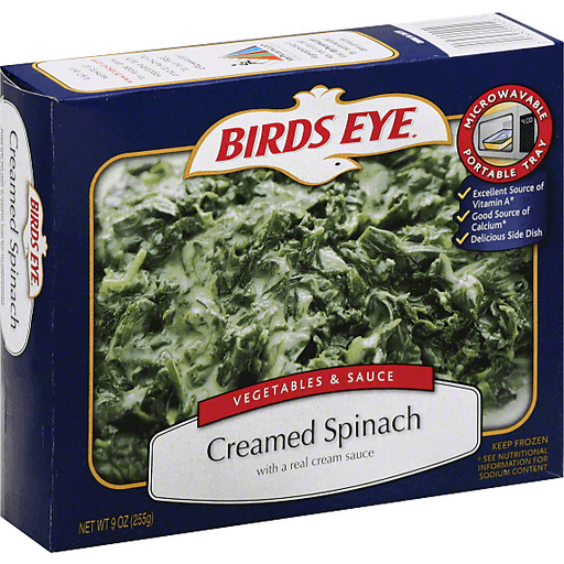 slide 2 of 3, Birds Eye Vegetables & Sauce Creamed Spinach,