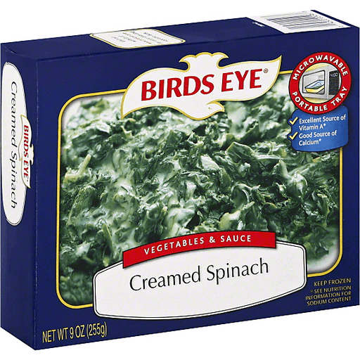 slide 3 of 3, Birds Eye Vegetables & Sauce Creamed Spinach,