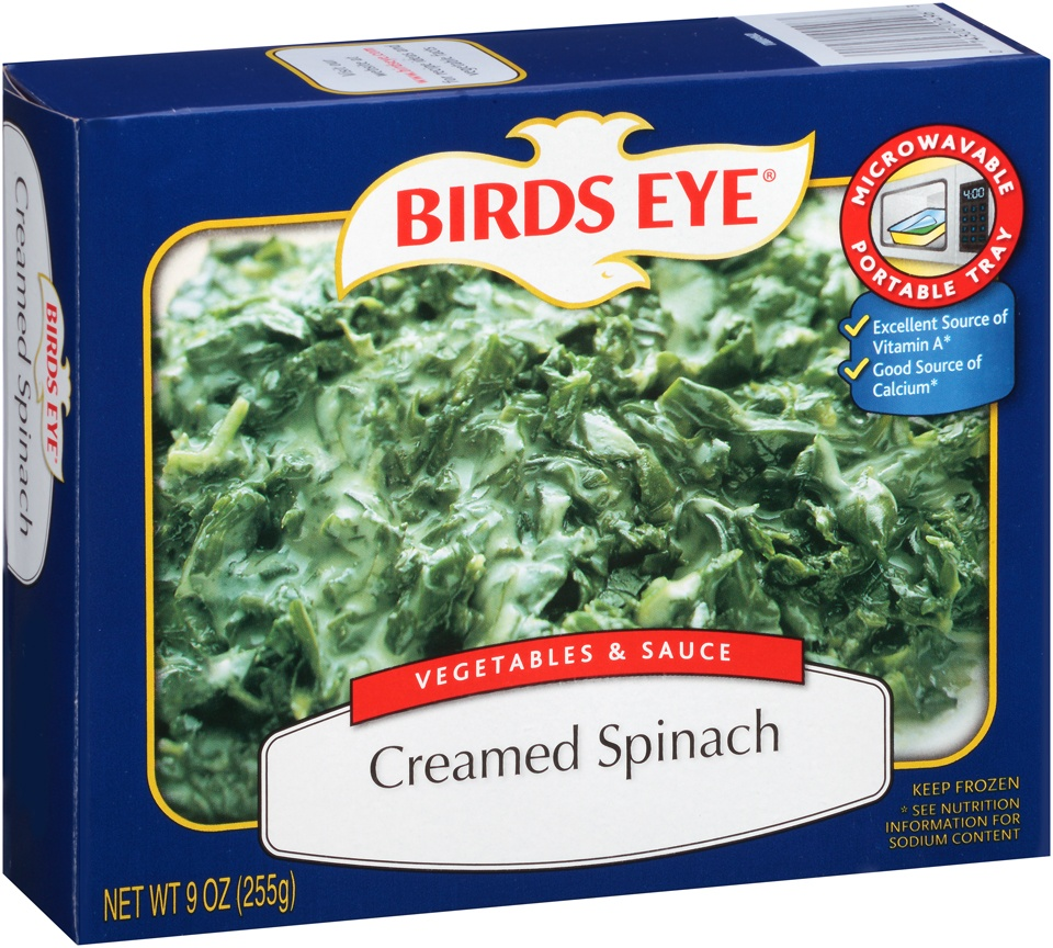 slide 1 of 3, Birds Eye Vegetables & Sauce Creamed Spinach,