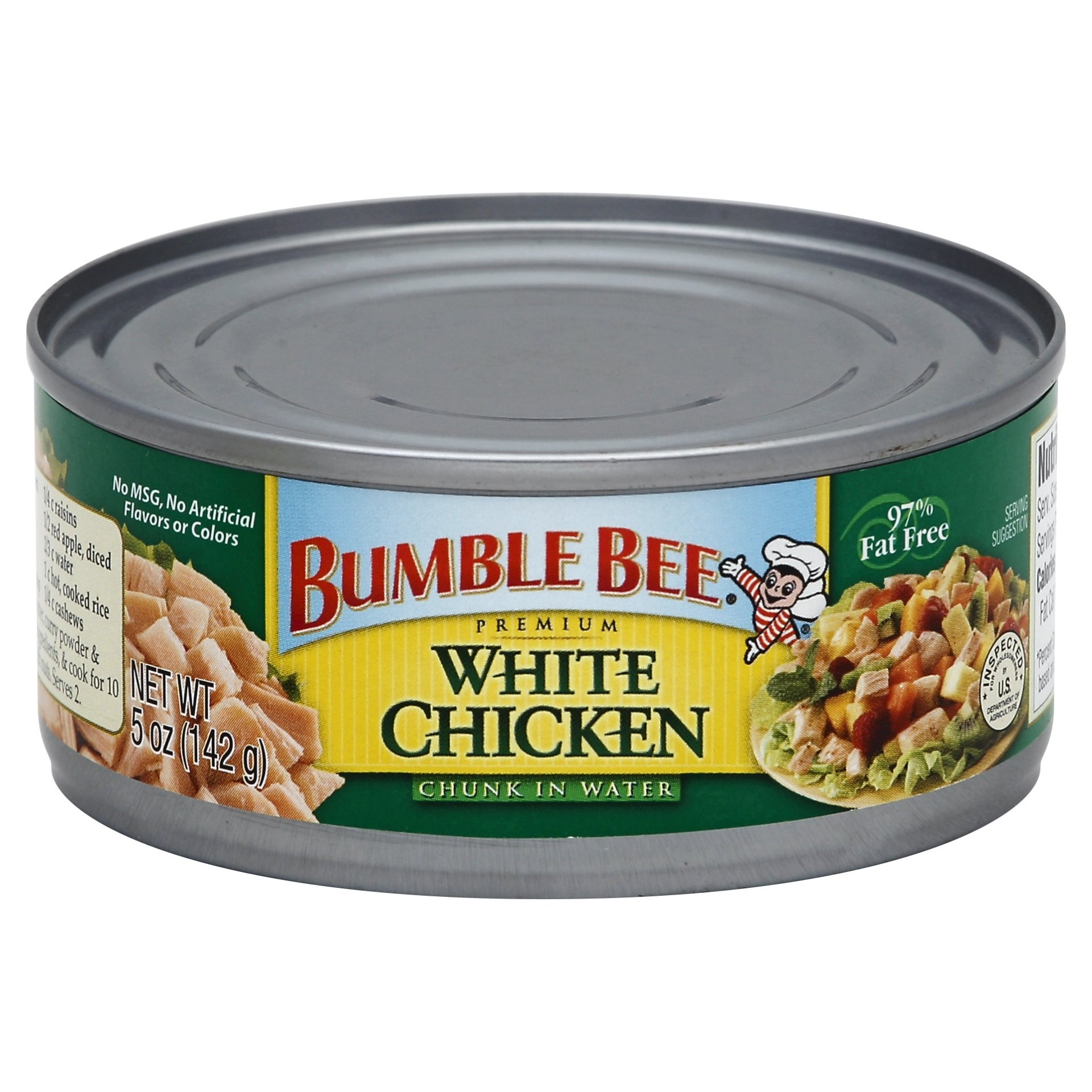 slide 1 of 1, Bumble Bee Premium White Chicken Chunk in Water,