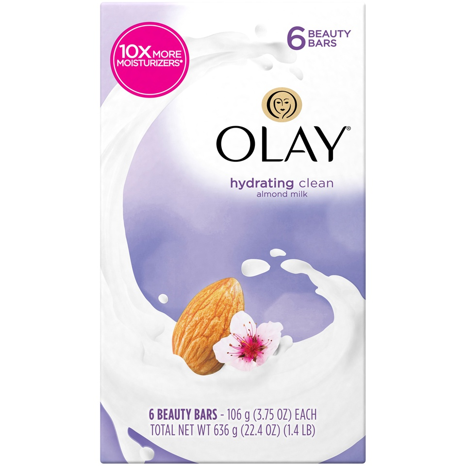 slide 2 of 4, Olay Hydrating Clean Almond Milk Beauty Bars,